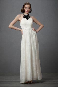 Ally-Catherine's KD White Rose Dress BHLDN City Of Lights Dress