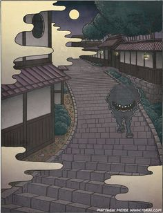 Japan Has The Creepiest Mythological Creatures, And Their Stories Will Make Your Skin Crawl Mythological Characters, Mythological Creatures, Fantasy Creatures, Mythical Creatures, Japanese Yokai, Japanese Art, Japon Tokyo, Japanese Monster, Japanese Mythology