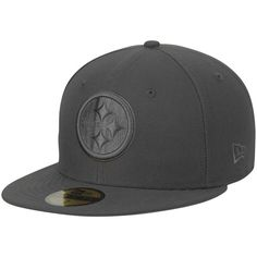 Pittsburgh Steelers New Era Tonal League Basic 59FIFTY Fitted Hat - Graphite