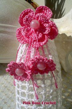 PINK ROSE CROCHET : Flor Sininho Receita