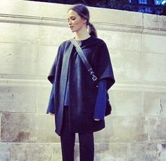Model and Blogger Columbine Smile wearing By Malene Birger coat from AW13