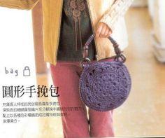 Bolsa de mano circular a crochet