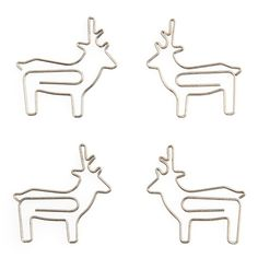 Deer Paper Clip by Poketo - cute to attach pictures to your holiday cards!