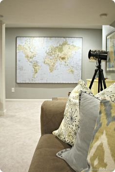 Mark where you visit, Love this idea. It's an ikea wall map. Gotta do this in the next remodeled room