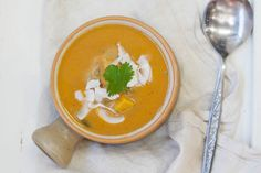Spicy Pumpkin & Coconut Lentil Soup | 28 by Sam Wood Coconut Lentil Soup, 28 By Sam Wood, Wood Pumpkins, Lentils, Thai Red Curry, Spicy, Healthy Recipes, Vegan