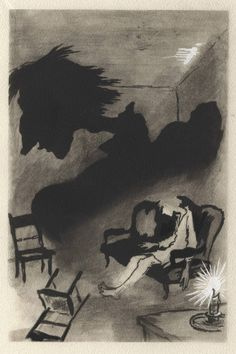 Yury Annenkov, illustration for 1945 French Dostoyevsky edition. from @Will 50watts.com