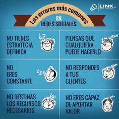 Errores habituales en Redes Sociales #SocialMedia #RRSS #infografia