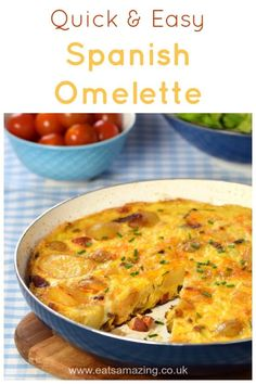How to make a Spanish Omelette - this super easy recipe makes a great family meal idea kids will love! How to make a Spanish Omelette - a great family meal idea. Midweek Meals, Healthy Family Meals, Healthy Foods To Eat, Kids Meals, Easy Meals, Healthy Recipes, Budget Family Meals, Quick Family Meals, Delicious Recipes