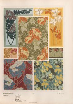 """""""Rhododendron - Lunaire"""", pl. 32 by E. A. Séguy. [Les fleurs et leurs applications décoratives. Paris: A. Calavas, 1902]"""