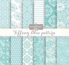 Tiffany Blue digital paper by burlapandlace on Creative Market