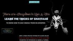 Qataadah said: Among the jinn are devils and among mankind are devils, so seek refuge with Allaah from the devils of mankind and the jinn.   Learn about The Tricks of Shayaateen in The PROTECTOR & THE CLEAR ENEMY - Free course to Learn about Allah and those who turn us away from Him on LEARN ISLAM  #shaythaan #tricks #whisper #learnislam