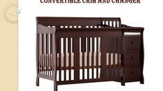 Stork Craft Portofino 4-in-1 Convertible Crib With Changer (Fixed Side) ...