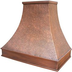 Handcrafted Copper Kitchen Range Hood with High CFM Hood Vent, Wall Mount Antique Copper Finish x Height Classic Design with Hand Hammered Texture and Smooth Apron Range Hood Cover, Copper Hood, Copper Kitchen, Antique Copper, Wall Mount, Texture, Antiques, Classic, Design