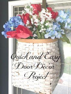 Quick and Easy Door Decor - Slightly Coastal