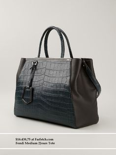 Most And Least Expensive Totes At Farfetch | Zoanne Fendi Medium 2Jours Tote- $16,438.75