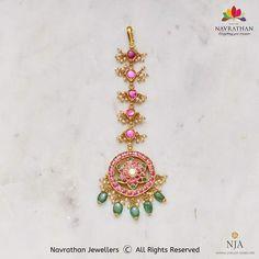 Tikka Jewelry, Headpiece Jewelry, Head Jewelry, Kids Jewelry, Gold Jewellery Design, Diamond Jewellery, Antic Jewellery, Temple Jewellery, Ruby Necklace Designs