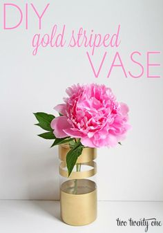 Add a touch of gold to your table with this simple striped vase DIY craft.