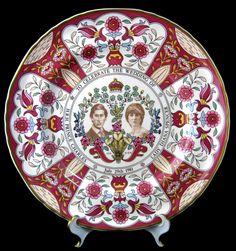 Charles And Diana Royal Wedding Transferware Plate Large Masons In Box 1981