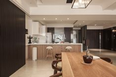 """Minimalist Loft is a stunning residential project designed by Ting Chung and Oliver Chung of Oliver Interior Design. It is located in Gushan District, a district of Kaohsiung City, Taiwan.                     Minimalist Loft by Oliver Interior Design: """"The project has 423.5 SQM (4,560 SQFT) space, the home owner likes his home to be decorated with modern simple style. It has 5 bedrooms, plus living and kitchen. The entrance looks broad and has magnificent marble partition. The dining and…"""