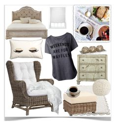 """""""Weekends Are For Waffles - Sunday Morning"""" by pat912 ❤ liked on Polyvore featuring interior, interiors, interior design, home, home decor, interior decorating, Prada, Padma's Plantation, H&M and Home Decorators Collection"""