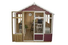 The Oakley Summerhouse from Forest is packed full of fantastic features, such as the ¾ length windows and glazed double doors so the interior is flooded . Outdoor Buildings, Outdoor Structures, Forest Garden, Garden Landscape Design, Gardening Supplies, Double Doors, Garden Furniture, Oakley