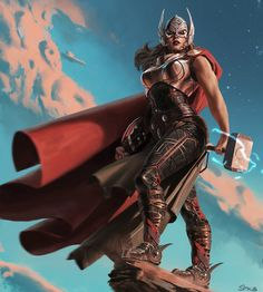 Ive been reading the new Thor comics featuring the new goddess of thunder. She's still new but she seems like an interesting character Thor Marvel Comics, Ms Marvel, Marvel Heroines, Marvel Girls, Comics Girls, Marvel Art, Marvel Avengers, Comic Book Characters, Marvel Heroes