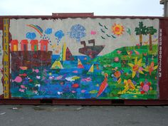Jersey Mencap shipping container by JerseyArtsTrust, via Flickr