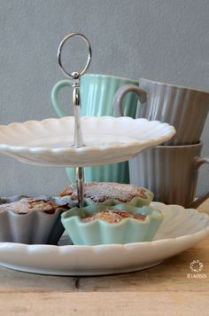 Mynte Stoneware by Ib Laursen in Mint Green and French Grey.