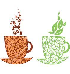 Tea or coffee stock vector. Illustration of background - 11446615 Cute Coffee Quotes, Coffee Stock, Coffee Vector, Tea Art, Kitchen Art, Atlantis, Cool Art, Nice Art, Vector Art