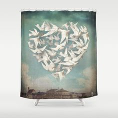 Longing Shower Curtain by Christian Schloe. Worldwide shipping available at Society6.com. Just one of millions of high quality products available.