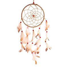 Soledi Car Decor Handmade Flax Dream Catcher Circular Net With_feather Wall Hanging Decoration Decor Ornament Craft Gift Soledi