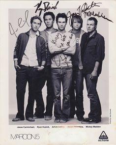 Maroon 5, Adam Levine, James Valentine, Ryan Dusick, Mickey Madden, & Jesse Carmichael.