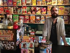 Alan Keery co-founded Cereal Killer Cafe with his twin brother Gary. (Photo: Micah Spangler)