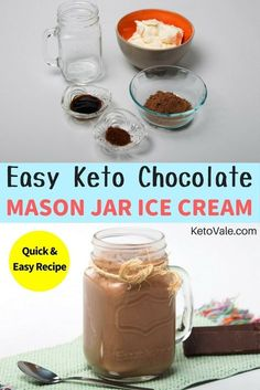 Love ice cream? Check our Keto Mason Jar Ice Cream low carb recipe here! via @ketovale