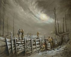 Give Us A Light Mate - a signed limited edition canvas on board by popular nostalgic artist Bob Barker.