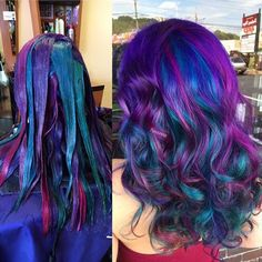 Lilac Bob with Peek-A-Boo Highlights - Pastel Hair Guide: 40 Shades of Pastel Hair Color - The Trending Hairstyle Galaxy Hair Color, Vivid Hair Color, Pretty Hair Color, Beautiful Hair Color, Hair Color Purple, Peacock Hair Color, Underlights Hair, Hair Color Techniques, Ombré Hair