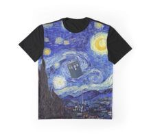 'A Starry Night Van Gogh Mountain Inspiration With Tardis' by Angelinas