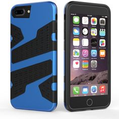 Sale 16% (4.59$) - Mesh Armor Protective Case Shockproof Heat Radiation TPU PC Hybrid Cover Case For iPhone 7 Plus