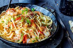 Spagetti med scampi, tomat og hvitløk | Coop Mega