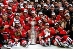 Hometown team!  City of big shoulders!  From all the trophy hoisting! 2015 Stanley Cup winning Blackhawks!