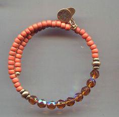 ALEX & ANI gold cinnamon amber  wrap bracelet vintage 66 - http://designerjewelrygalleria.com/alex-ani/alex-ani-gold-cinnamon-amber-wrap-bracelet-vintage-66/