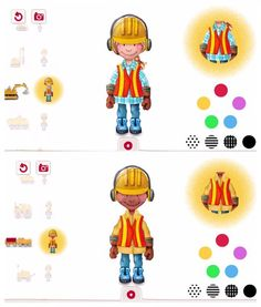 Tiny Builders construction app: 65,000 combinations for customizing construction workers and the sites kids can play with
