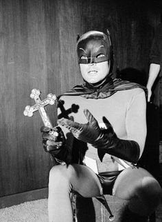 batman with crucifix