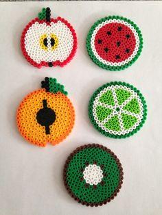 Kids Hama Beads Coasters, Diy Perler Beads, Hama Beads Design, Peler Beads, Coaster Design, Iron Beads, Melting Beads, Fuse Beads, Christmas Crafts For Kids