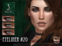 The Sims Resource: Eyeliner 20 by RemusSirion • Sims 4 Downloads