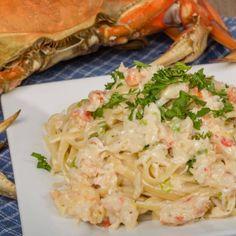 Copycat Red Lobster Crab Alfredo Crab Pasta Recipes, Pasta Dinner Recipes, Lobster Recipes, Seafood Recipes, Pasta Lunch, Recipe Pasta, Pizza Recipes, Fish Recipes, Seafood