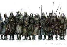 Komish Hillmen warriors - they should have less armour. Dark Fantasy, Fantasy Rpg, Medieval Fantasy, Fantasy Comics, Viking Warrior, Viking Age, Viking Battle, Character Concept, Character Art