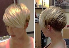 Blonde Short Pixie