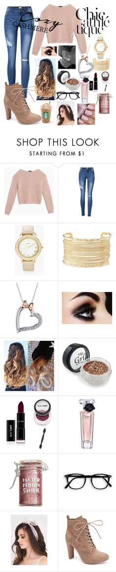 """Cozy chic"" by maryamsaeed1 ❤ liked on Polyvore featuring Max&Co., Chico's, Charlotte Russe, Disney, Lancôme, Major Moonshine and Wild Diva"