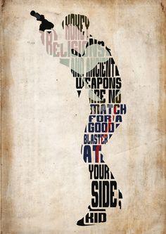 Han Solo Star Wars Poster - Minimalist Typography Poster Movie Poster Art Print Illustration Wall Art